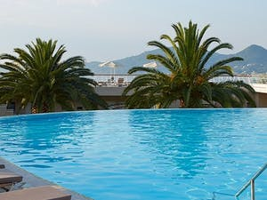 Swimming pool at Marbella Corfu