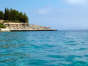 Exterior View of the Swimming Pool at Marbella Corfu, Cyprus