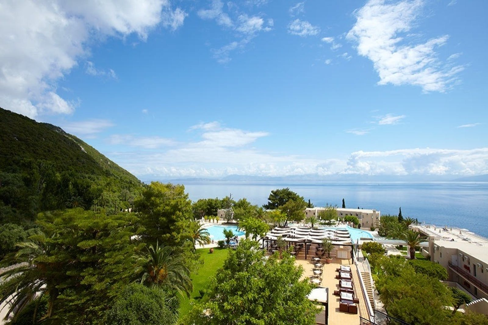 exterior view of the swimming pool at marbella corfu cyprus