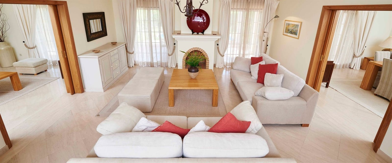 Luxury Villa Living Room at Martinhal Quinta Family Resort, Algarve