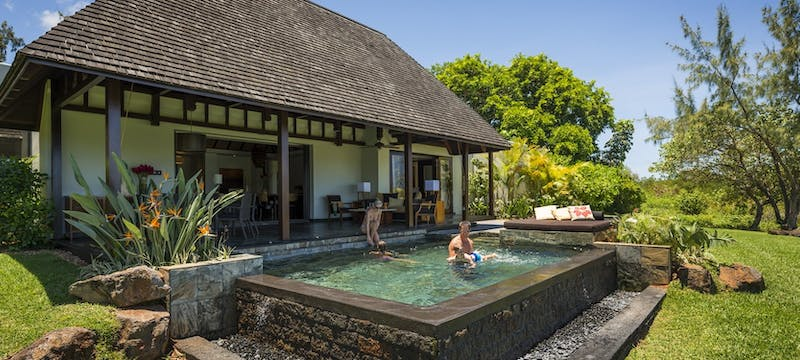 Private swimming pool at Four Seasons Resort Mauritius at Anahita