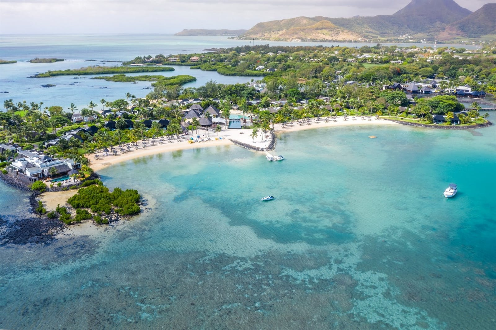 Aerial view, Four Seasons Resort Mauritius at Anahita