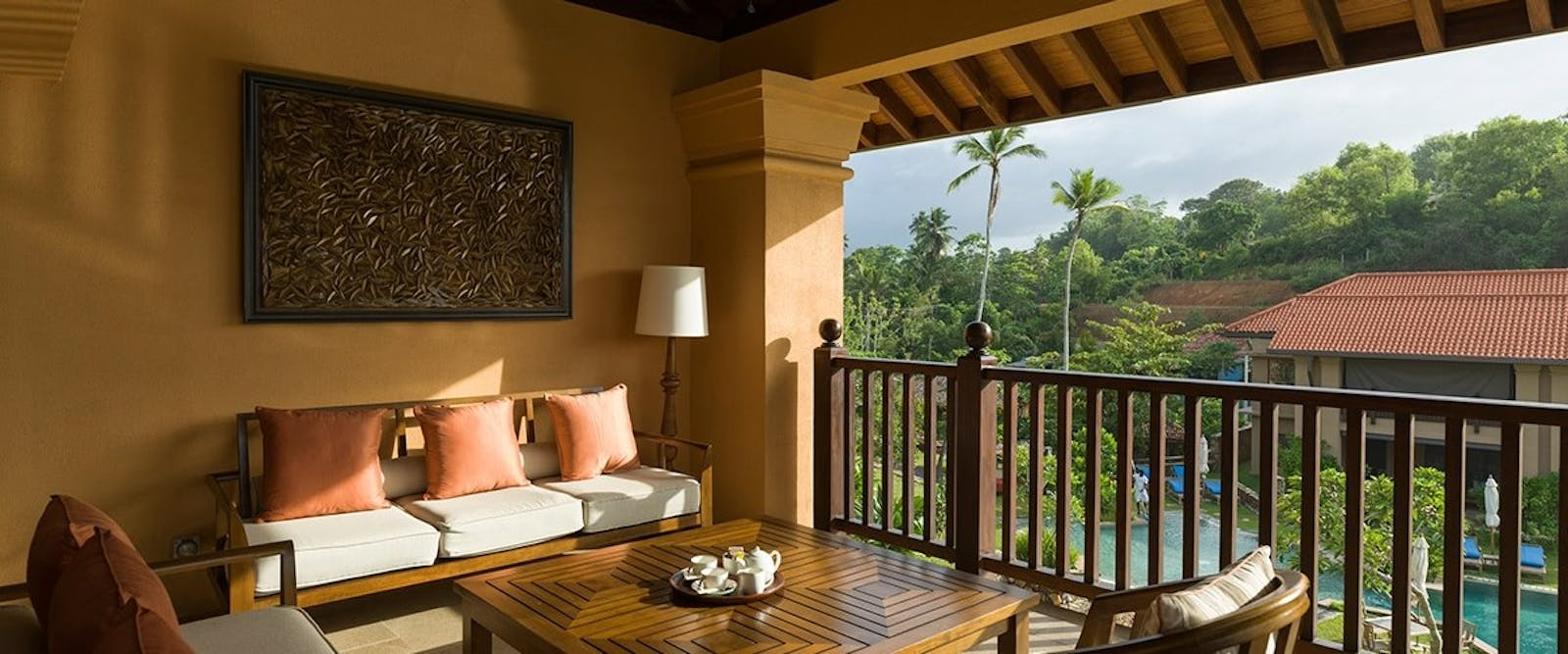 Master Suite Balcony at at Cape Weligama, Sri Lanka