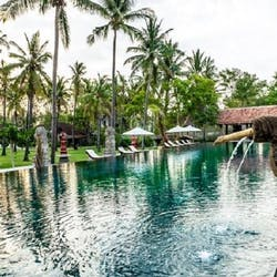 swimming pool at tugu lombok bali