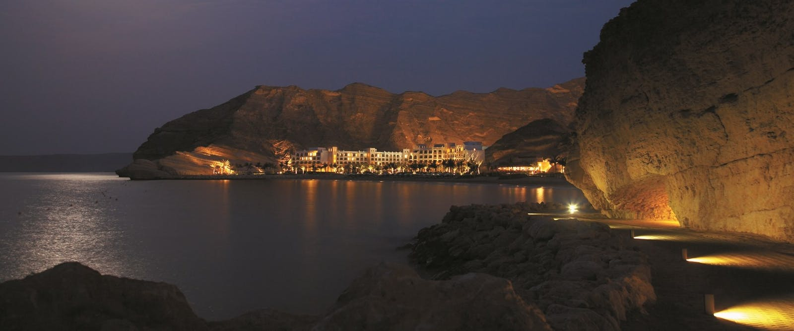 View of  at Shangri La Barr Al Jissah Resort & Spa, Oman - Al Waha in the evening