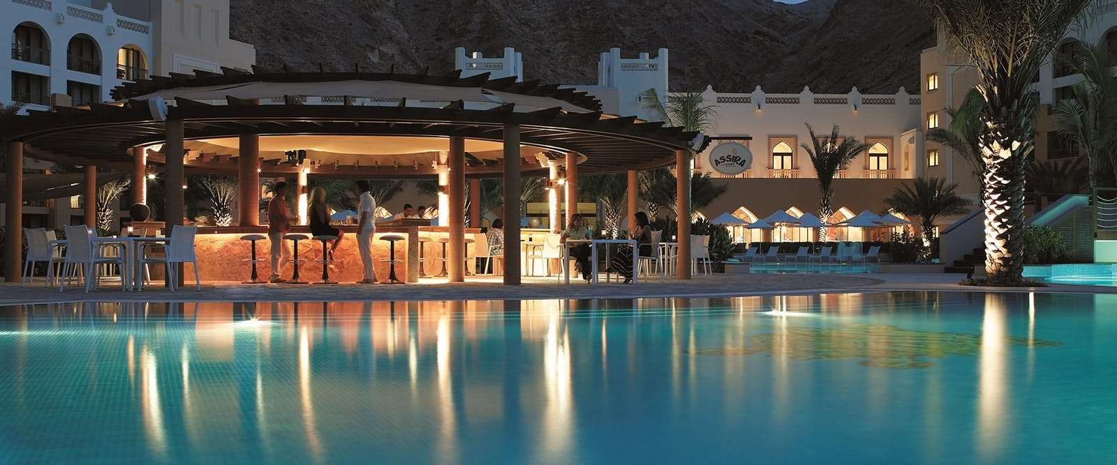 Pool bar at Shangri La Barr Al Jissah Resort & Spa, Oman - Al Waha