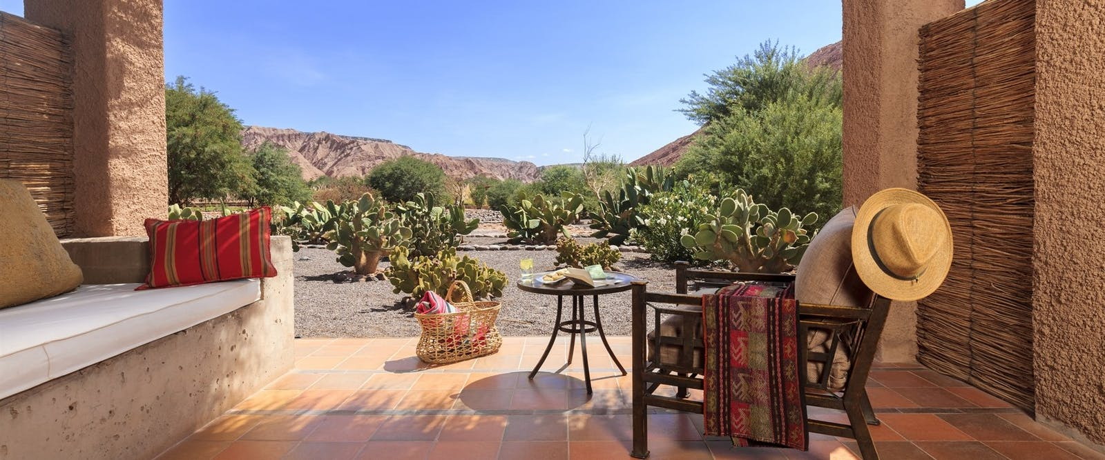 private terrace at alto atacama, Chile