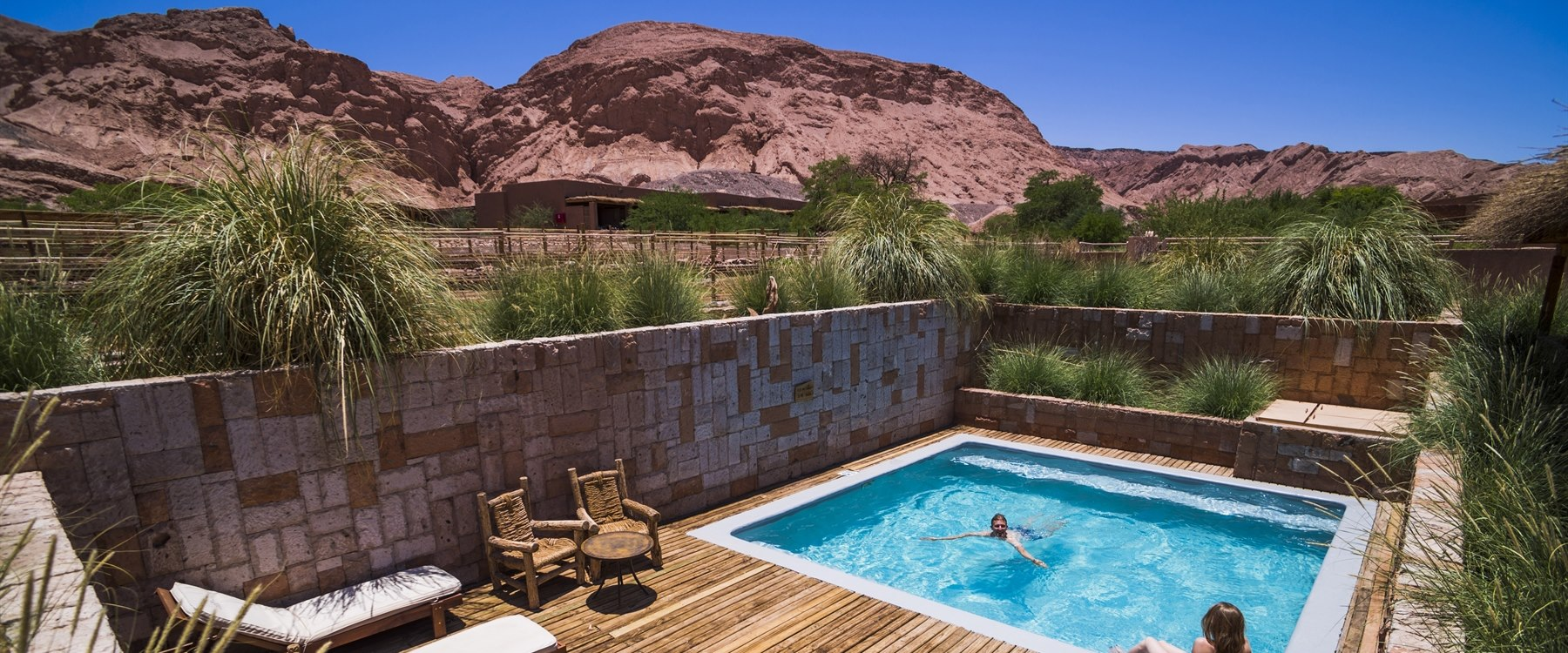private pool area at alto atacama, Chile