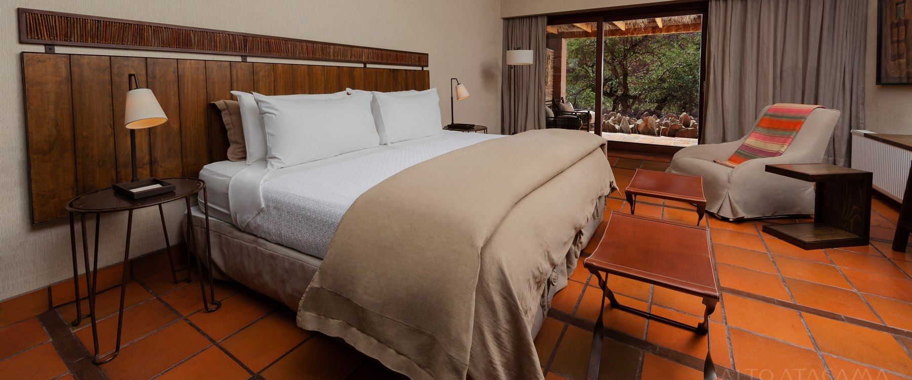 guest bedroom at alto atacama, Chile