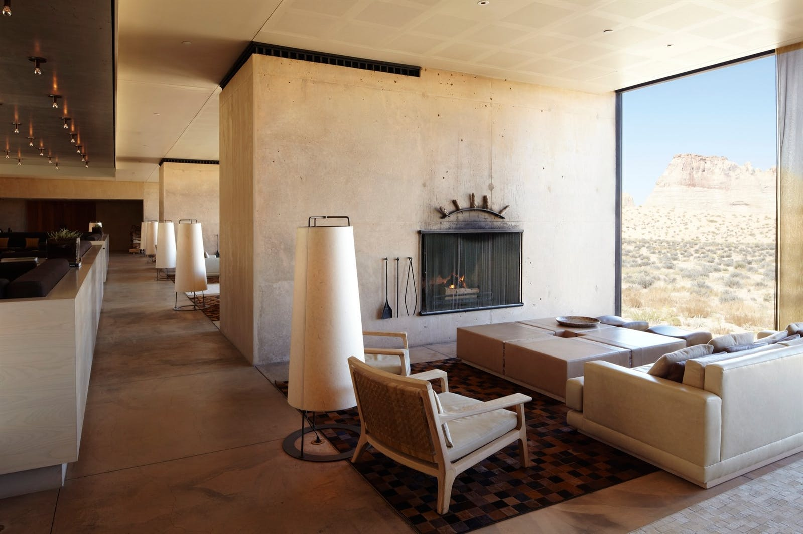 Main Living Area at Amangiri, Canyon Point