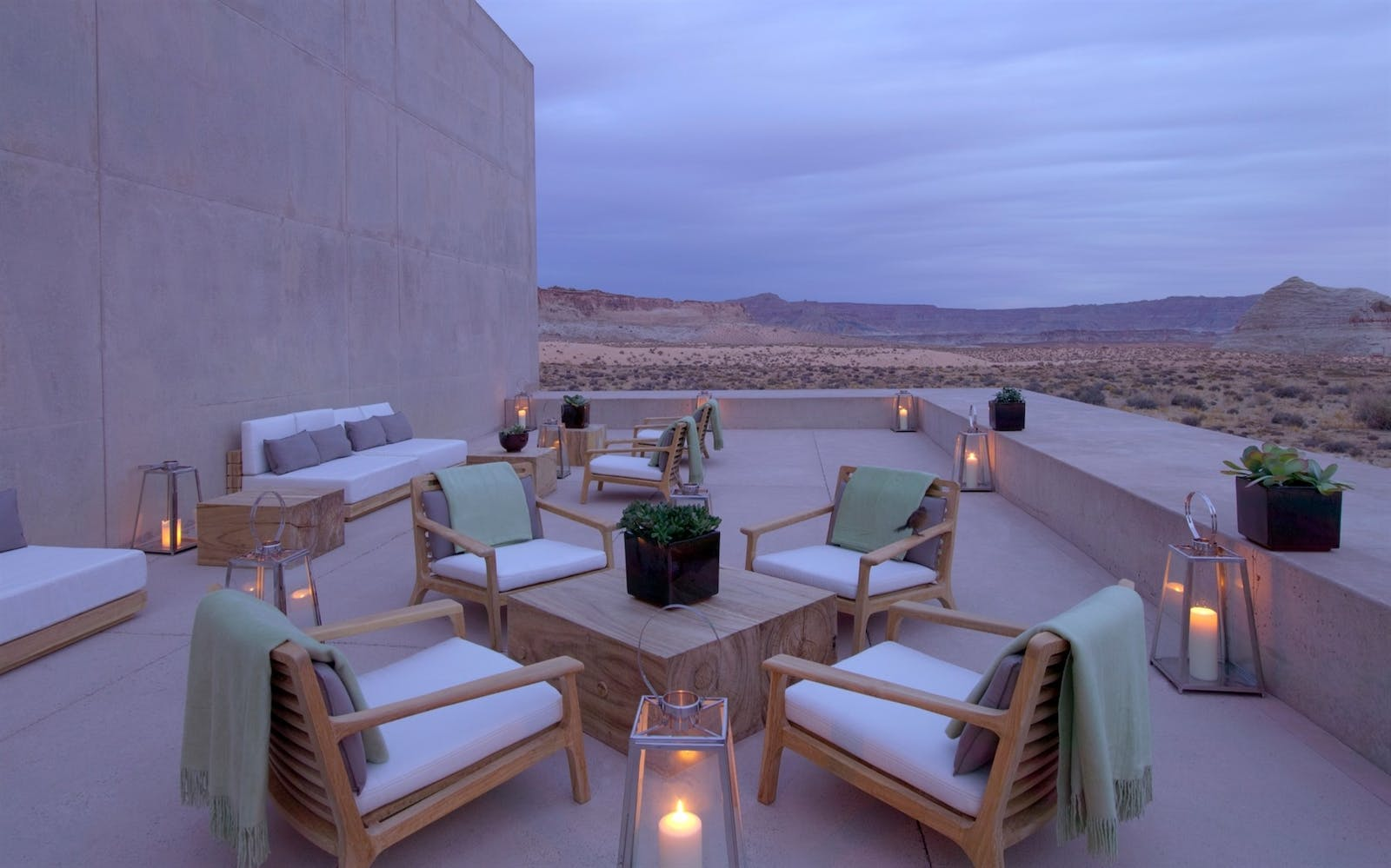 Outside Seating Area at Amangiri, Canyon Point