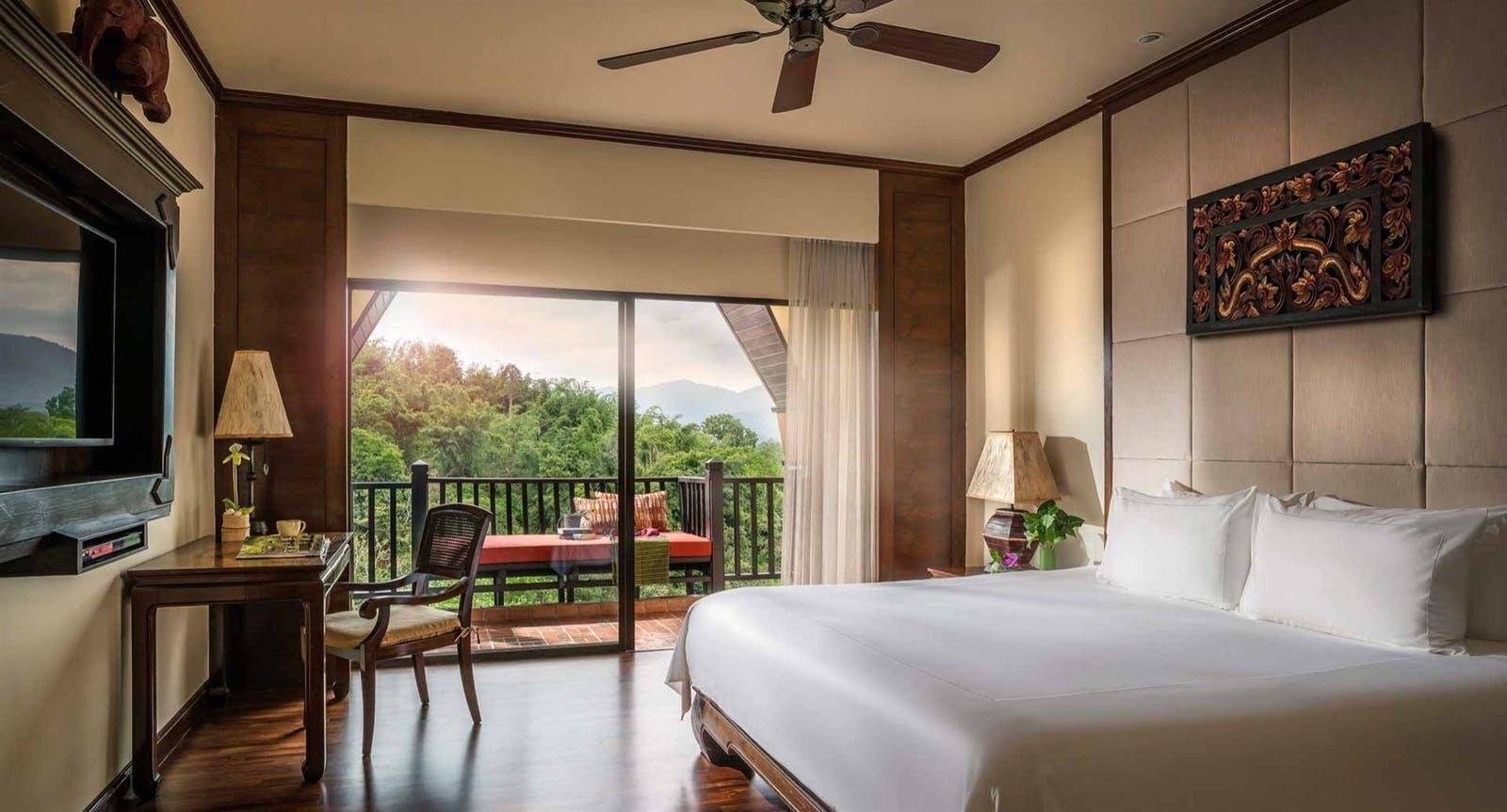 Country View Room at Anantara Golden Triangle Elephant Camp Resort, Chiang Rai, Thailand, Asia