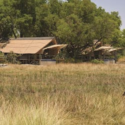 Exterior of Accommodation at Belmond Eagle Island, Botswana