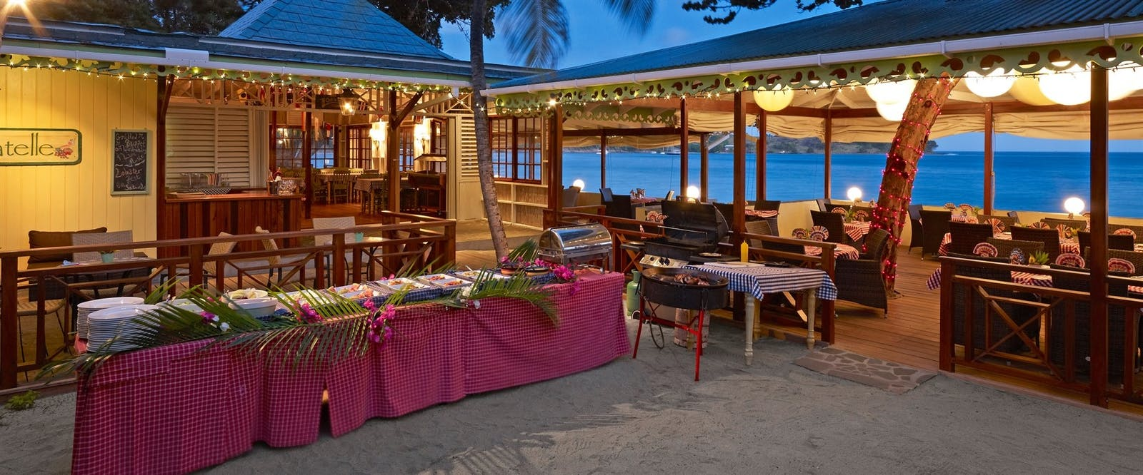 Beach Dining at Bequia Beach Hotel, St Vincent and The Grenadines