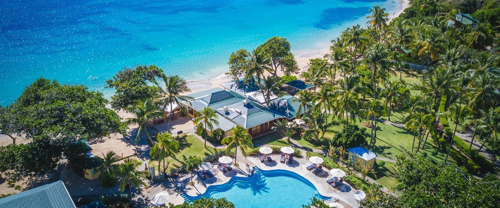 Aerial View of Bequia Beach Hotel, St Vincent and The Grenadines