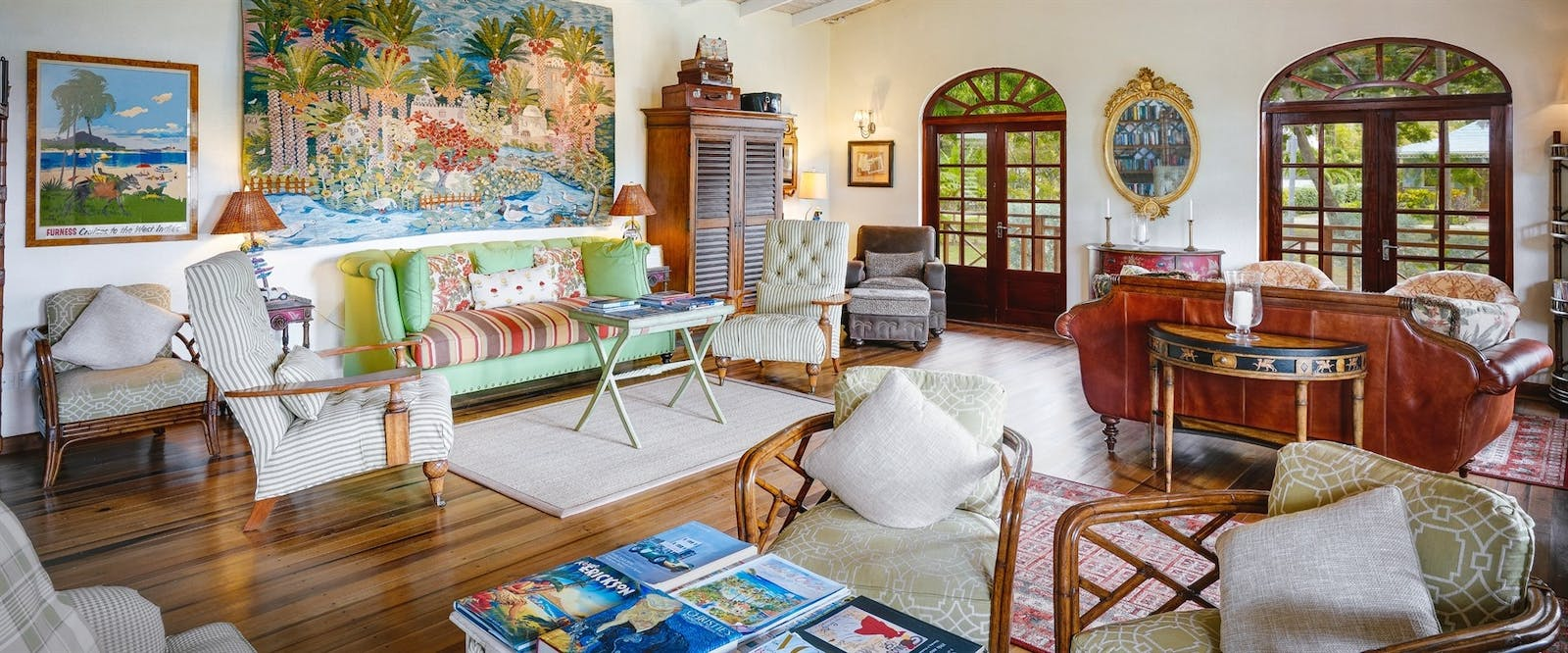 Reception Library at Bequia Beach Hotel, St Vincent and The Grenadines
