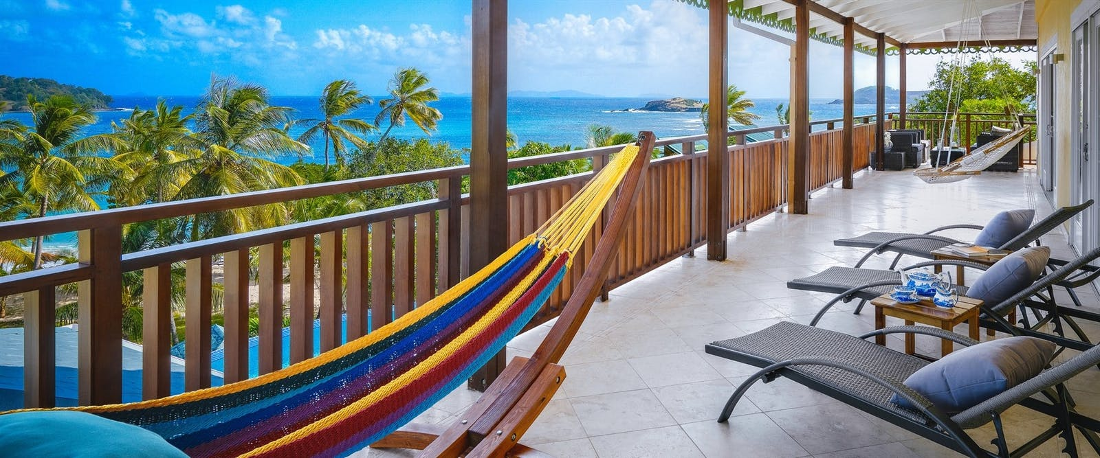 Estate Villa Terrace at Bequia Beach Hotel, St Vincent and The Grenadines