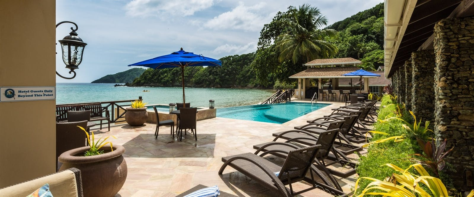 Pool and Sun Deck at Blue Waters Inn, Tobago