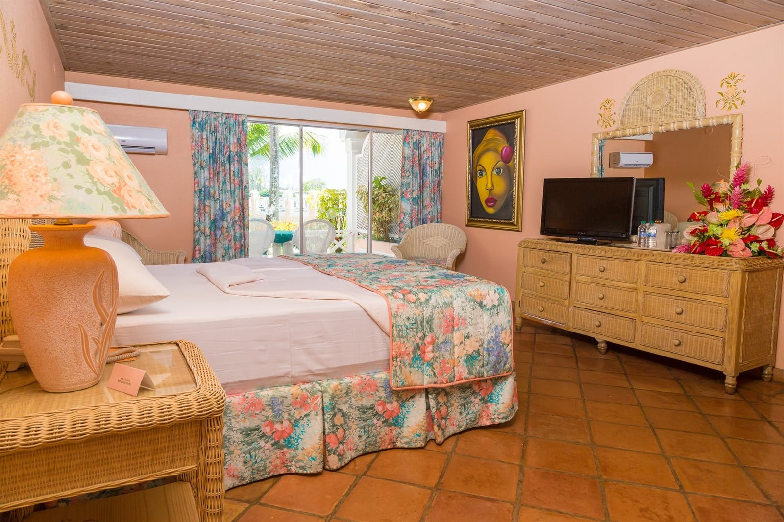 bedroom interior at coco reef resort tobago