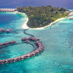 Aerial View of Coco Bodu Hithi, Maldives, Indian Ocean