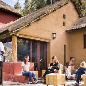 Outdoor dining, Colca Lodge