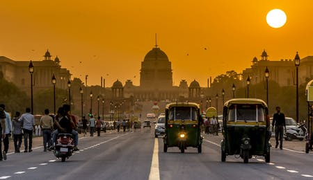 Sunset behind the President Residence,  New Delhi