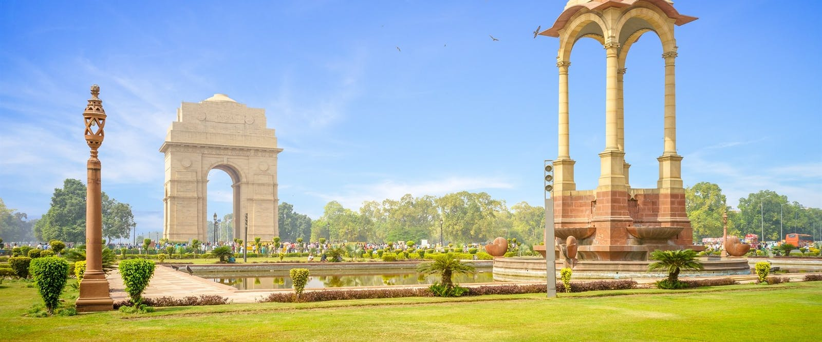 Canopy and India Gate in New Delhi, India