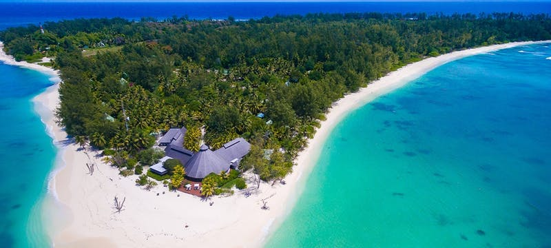 Aerial view of Denis Private Island