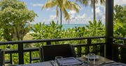 Dining with a view at Denis Private Island