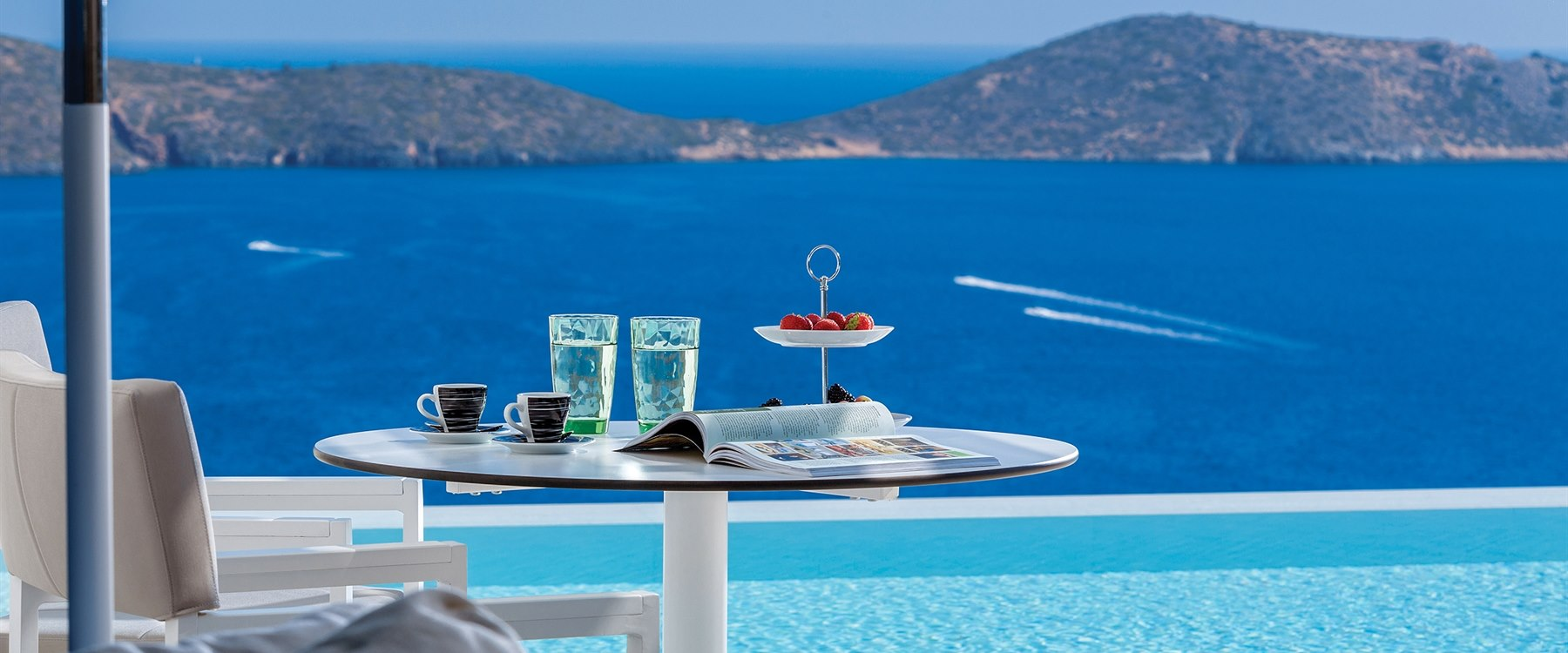 pool with a view at Elounda Gulf Villas & Suites