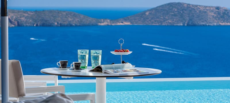 pool villa at elounda gulf villas  suites, Crete