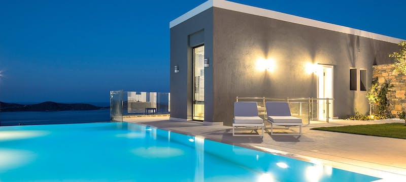 Swimming pool at elounda gulf villas  suites, Crete