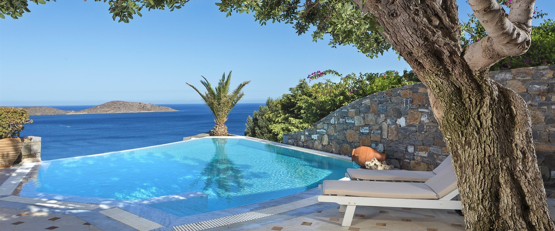 private pool at Elounda Gulf Villas & Suites