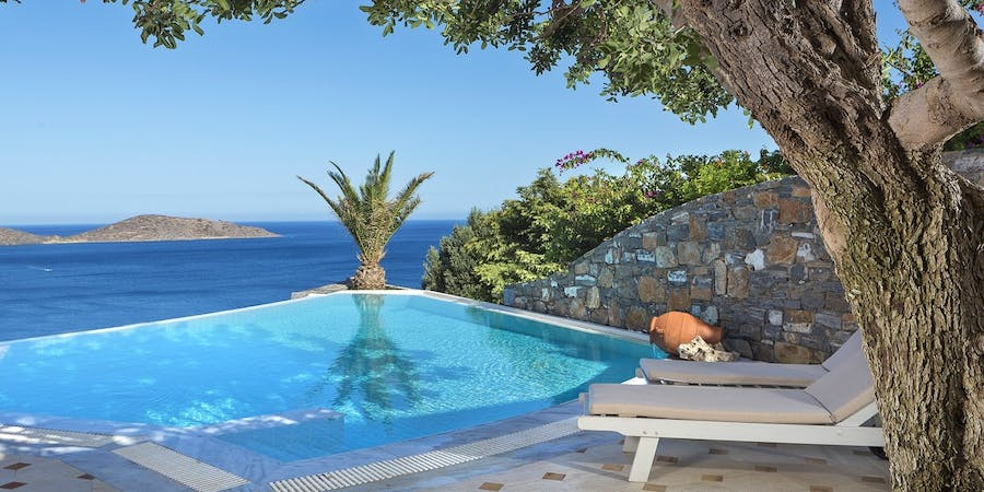 Private Pool at Elounda Gulf Villas & Suites, Crete, Greece