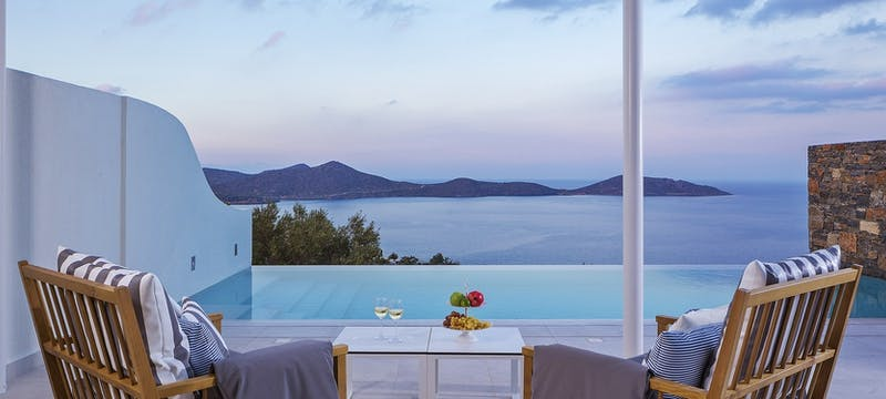 massage pool suite at elounda gulf villas  suites, Crete
