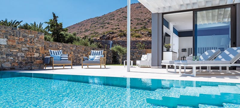 Pool suite at elounda gulf villas  suites, Crete
