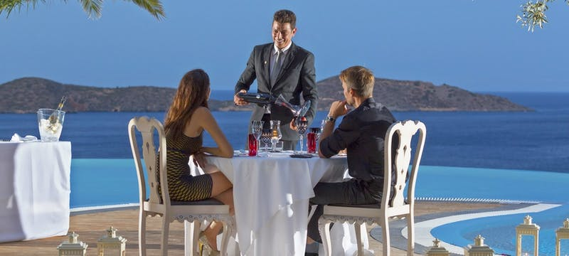 Private dining at elounda gulf villas  suites, Crete