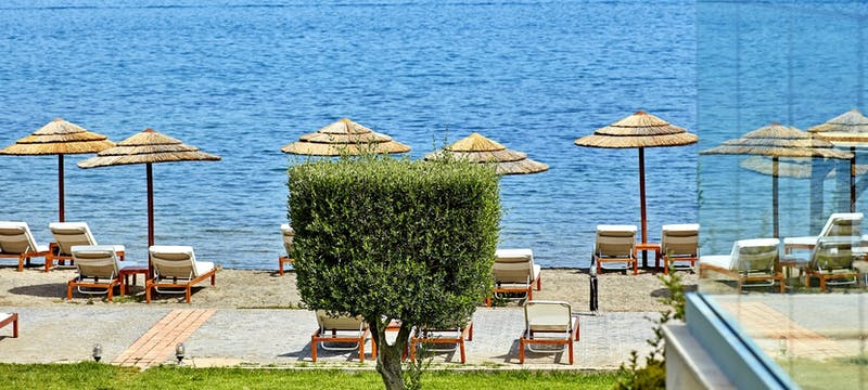 private beach club at elounda gulf villas  suites, Crete