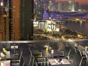 view from roof terrace at excelsior hong kong