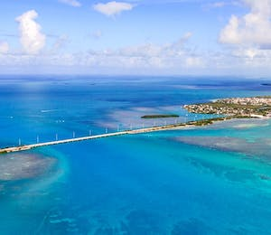 aerial view of the keys