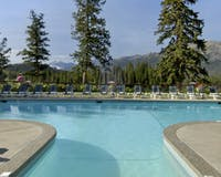 summer outdoor pool at fairmont jasper park lodge