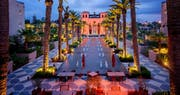 Hotel in the evening, Four Seasons Resort Marrakech
