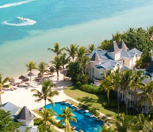 aerial view of Heritage Le Telfair Golf & Spa Resort, Mauritius