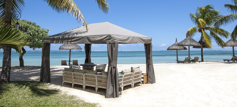 Beach view at Heritage Le Telfair Golf & Spa Resort, Mauritius