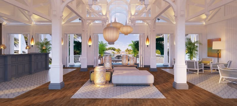Lobby area at Heritage Le Telfair Golf & Spa Resort, Mauritius