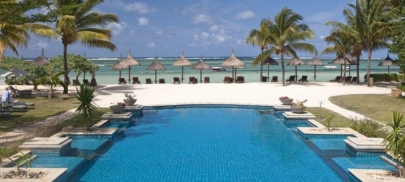 Swimming pool at Heritage Le Telfair Golf & Spa Resort, Mauritius