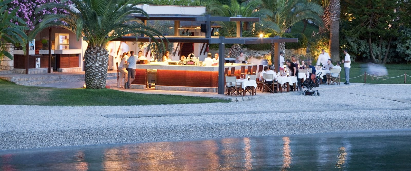 Beach Bar at Hillside Beach Club, Fethiye, Turkey