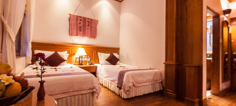 Twin bedroom at Hotel By The Red Canal