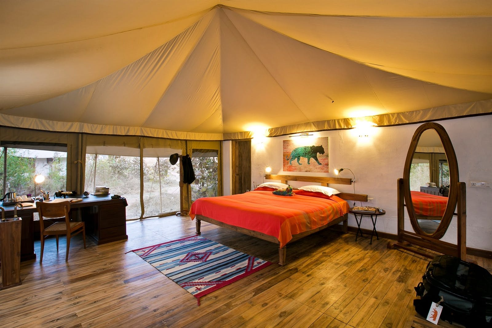 jamtara wilderness camp tent interior