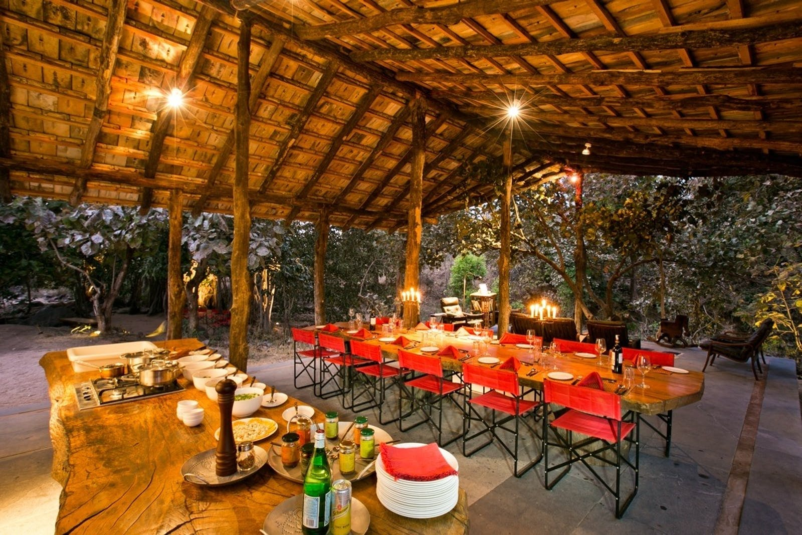 jamtara wilderness camp dining area